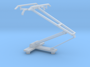O scale LRV pantograph in Smooth Fine Detail Plastic