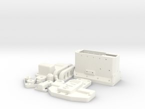 1/10 SCALE STRAIGHT 6 CUMMINS MODEL ENGINE in White Processed Versatile Plastic: 1:10