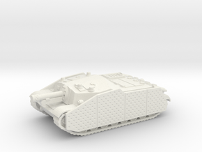 43M Zrinyi tank (Hungary) 1/87 in White Natural Versatile Plastic