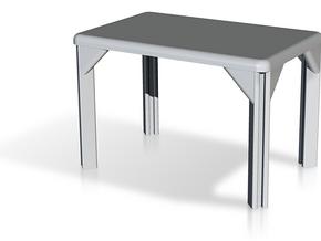 Table, Stadio 120, Rectangular (Space: 1999), 1/30 in White Natural Versatile Plastic