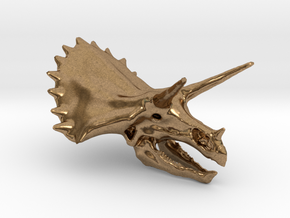 dino head pendant in Natural Brass