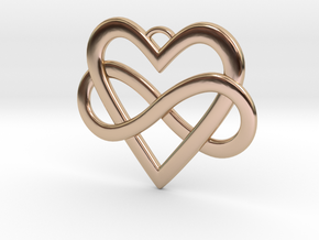 EverHeart necklace in 14k Rose Gold Plated