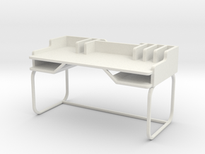 Desk, Type A (Space: 1999), 1/30 in White Natural Versatile Plastic