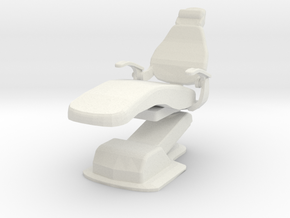 Medical Exam Chair A (Space: 1999), 1/30 in White Natural Versatile Plastic
