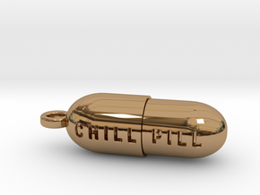 Chill Pill Pendant in Polished Brass