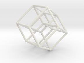 Tesseract in White Natural Versatile Plastic