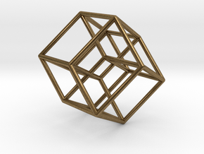 Tesseract in Natural Bronze