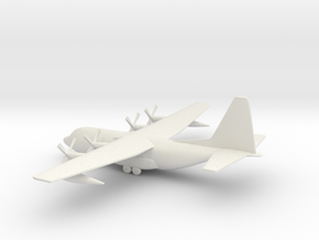 Lockheed C-130 Hercules in White Natural Versatile Plastic: 6mm