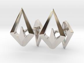 HEAD TO HEAD Sharp, Cufflinks  in Platinum