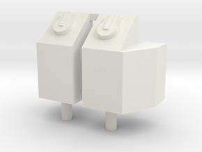 Square Sand Box in White Natural Versatile Plastic