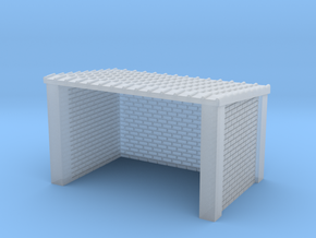 N Gauge Brick Bus Shelter in Smooth Fine Detail Plastic