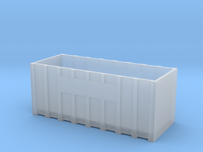 N Gauge Roll On Roll Off Skip in Smooth Fine Detail Plastic