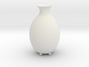"Vase ""Bud"" in White Natural Versatile Plastic"
