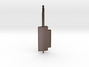Flap Rudder (Main Blade) V03 1/100 in Polished Bronze Steel