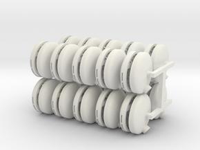 Turbo Tubs 20 pack in White Natural Versatile Plastic