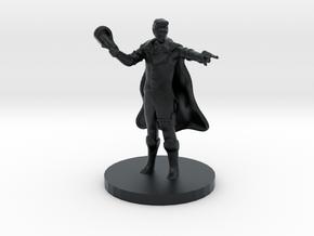 Human Gunslinger in Black Hi-Def Acrylate
