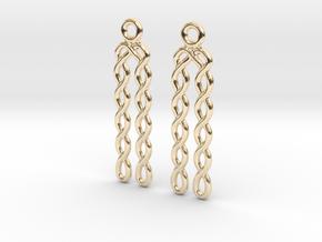Celtic Weave Earrings - WE030 in 14k Gold Plated Brass