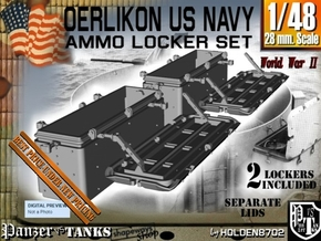 1/48 Oerlikon US Navy Ammo Locker Set 2 in Smooth Fine Detail Plastic