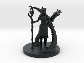 Female Half Elf Druid in Black Hi-Def Acrylate