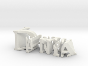 3dWordFlip: Danya/Naya in White Strong & Flexible