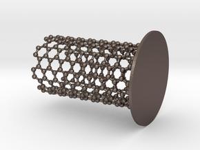 NanoTube Pen Holder in Polished Bronzed Silver Steel