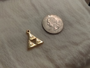 Delta Triangle Pendant in 14k Gold Plated Brass