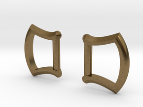"1/2"" Buckle Frames / D-rings (pair) in Natural Bronze"