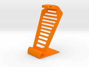 Cobra iPhone stand  in Orange Processed Versatile Plastic