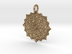 Hindi Pendant in Polished Gold Steel