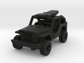 Jeep   1:87  HO in Black Natural Versatile Plastic
