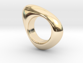 Fluid in 14K Yellow Gold: 4 / 46.5
