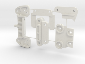 Top Force J parts in White Natural Versatile Plastic