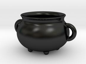 Pot with pens in Matte Black Porcelain