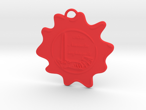 McScath Family Crest in Red Processed Versatile Plastic: Large