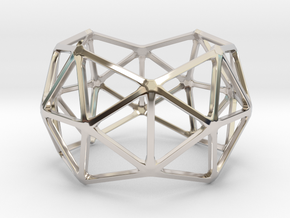 Catalan Bracelet - Pentakis Dodecahedron in Rhodium Plated Brass: Large