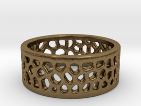 Cell Ring - Size 6 in Natural Bronze