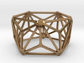 Catalan Bracelet - Triakis Icosahedron in Natural Brass: Large