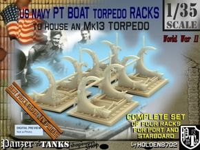 1-35 PT Torpedo Rack TypC Set1 in Smooth Fine Detail Plastic