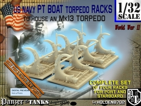 1-32 PT Torpedo Rack TypC Set1 in Smooth Fine Detail Plastic