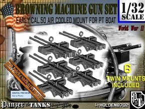 1-32 PT Boat Cal 50 M2 Early Mount Set2 in Smooth Fine Detail Plastic