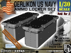 1-30 Oerlikon US Navy Ammo Locker Set 3 in White Natural Versatile Plastic