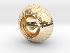 light in 14k Gold Plated Brass: Small