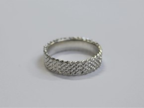 Dragon Scales Ring in Raw Silver
