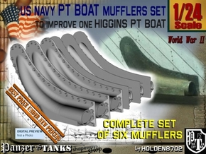 1/24 PT Higgins Muffler Set in Smooth Fine Detail Plastic
