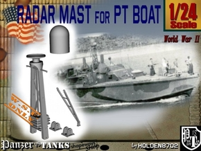 1-24 Radar Mast For PT BOAT in White Processed Versatile Plastic