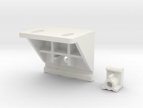 Shade Bracket 318 Luminette in White Natural Versatile Plastic