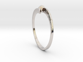 Game Changer Ring in Rhodium Plated Brass