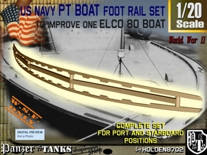 1-20 Elco 80 Foot Rail For PT Boat in White Natural Versatile Plastic