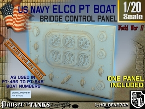1-20 PT Boat Bridge Control Panel Typ4 in Smooth Fine Detail Plastic
