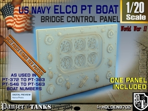 1-20 PT Boat Bridge Control Pannel Typ3 in Smooth Fine Detail Plastic